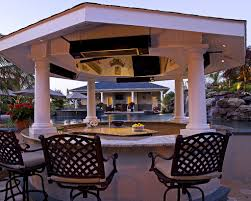 Luxurious Nuance Of Backyard Bars Designs Accented By Cool Black ... 23 Creative Outdoor Wet Bar Design Ideas Backyards Stupendous Designs Kitchen Pictures 91 Backyard Bbq The Ritzcarlton Lake Tahoe 3pc Wicker Set Patio Table 2 Stools Rattan Budget For Small Triyaecom And Grill Various Design Inspiration You Must Try At Your Decorations For Shelves In Living Room Outside U0026 Garden U003e Tips Expert Advice Hgtv