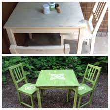 Americana Decor Chalky Finish Paint Colors by Rustic Green Table And Chairs Painted With New Life Chalk Paint