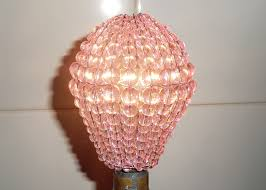 chandelier inspired glass bead lightbulb gls bulb cover