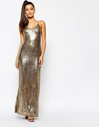 image 1 of missguided strappy glitter sequin maxi dress my