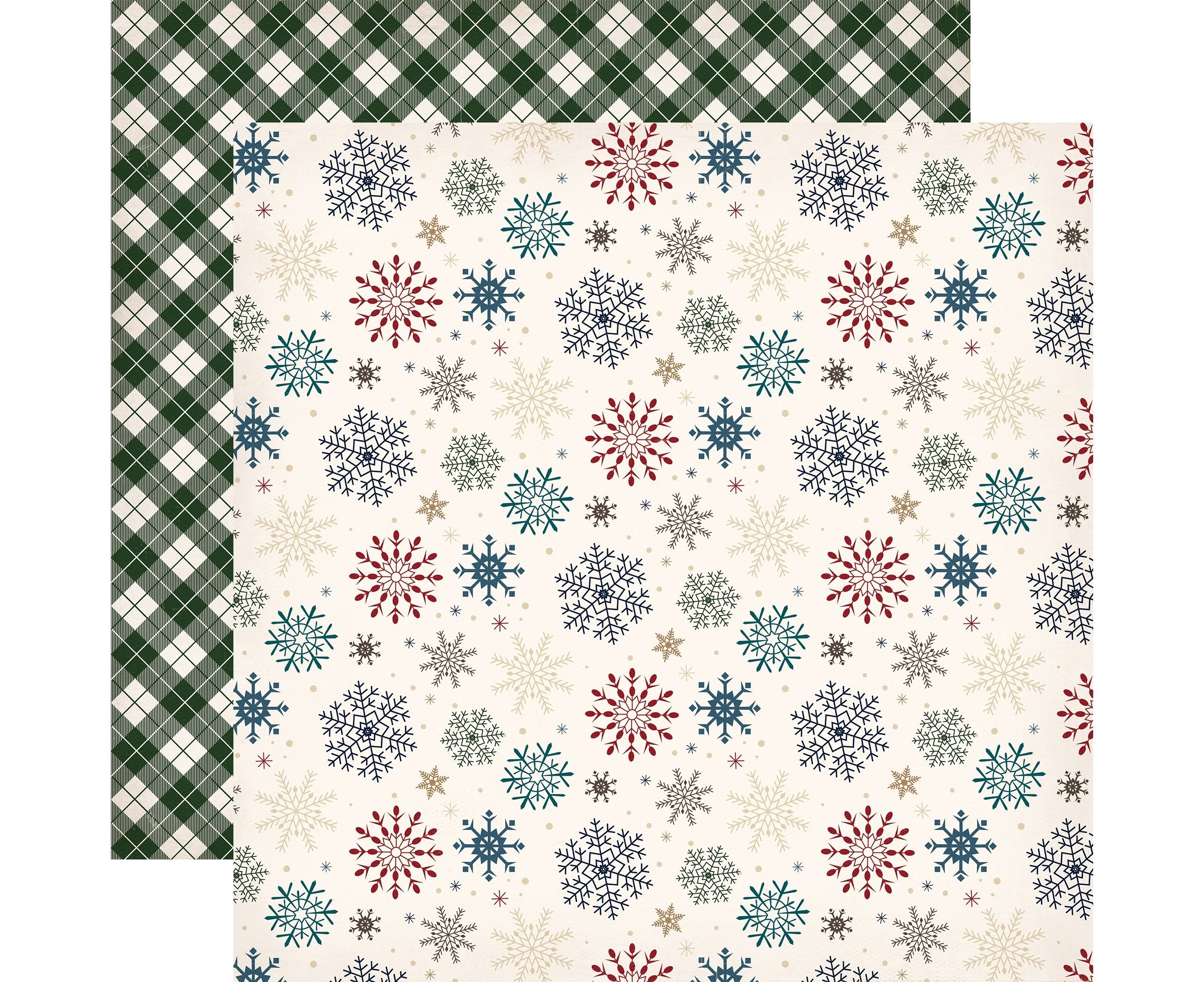 Carta Bella Paper Cabin Fever Collection Double Sided Paper - Snowed In, 12 X 12