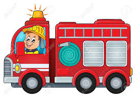 Fire Truck Theme Image Vector Illustration. Royalty Free Cliparts ...