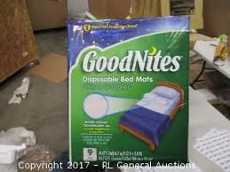 Goodnites Disposable Bed Mats by Bidrl Com Online Auction Marketplace Baby Online Auction