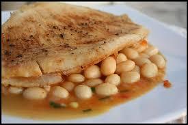cuisiner la raie au four aile de raie aux cocos de paimpol chez becky et liz de