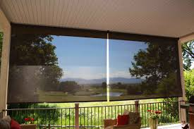 Roll Up Patio Shades by Custom Blinds 4 You Exterior Patio Shades