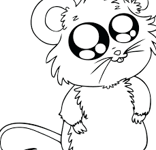 Baby Animal Coloring Page Nice Mouse Animals Printable Funny Cute Dog Pages Free