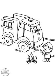 Coloriage Camion Grue