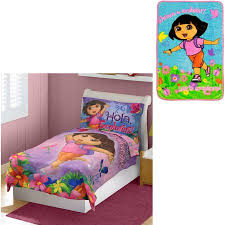 dora the explor nick dora the explorer toddler bed set with b