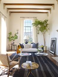 InteriorFascinating Contemporary Colonial Interior Style With Striped Rug And Bamboo Chairs Also Iron Arched