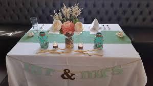 Mint Green Burlap Table Runner Wedding Decor Seafoam