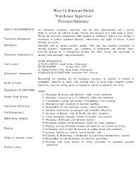 Production Manager Resume Examples Example Sample Warehouse Resumes Doc Operation