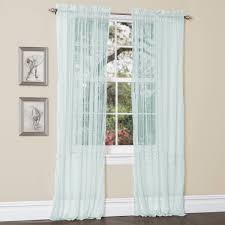 sheer curtains window treatment kmart com lola aqua blue pair idolza