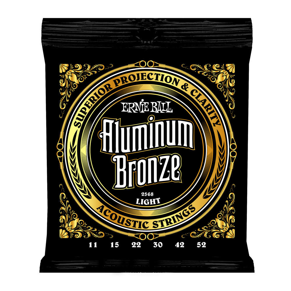 Ernie Ball 2568 Aluminum Bronze Light Acoustic Guitar String Set