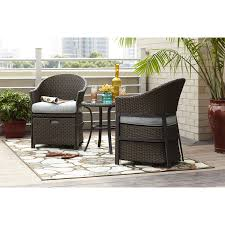 Lowes Canada Patio Furniture by Shop Garden Treasures 5 Piece South Point Brown Steel Patio