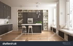 100 Luxury Apartment Design Interiors Modern White Kitchen Dark Wooden Details 1286770894