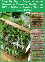 Awesome Summer Gardening DIY Make A Garden Planter From Pallet