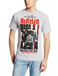 amazon com bravado men u0027s beatles 1964 tour t shirt clothing