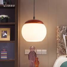 moderne holz esszimmer pendelleuchte wohnzimmer glossen led leuchte anhänger len hänge deckenleuchte glas pendelleuchte