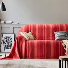 drap canapé jetés de canapé et plaids blancheporte