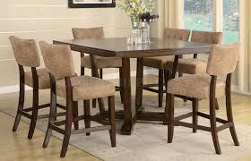 Espresso Finish Modern 7Pc Pub Dining Table Set