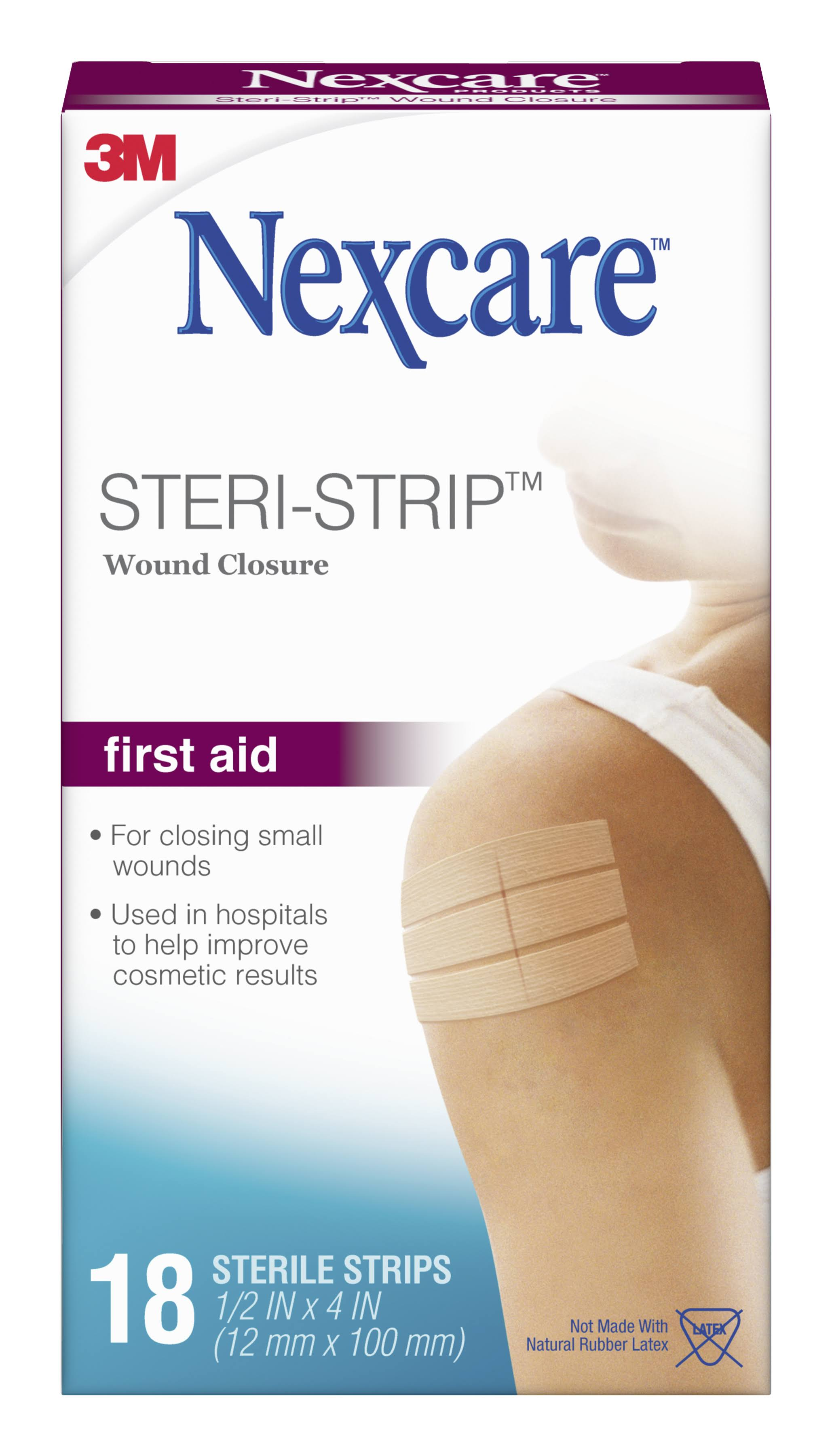 3M Nexcare Steri-Strip Skin Closure Sterile Strips - 18 Strips
