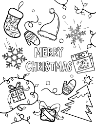 Printable Merry Christmas Coloring Page Free PDF Download At Coloringcafe