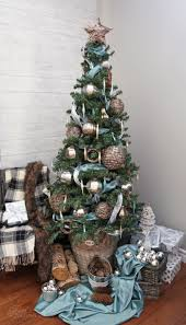 I Used Strips Of Soft Blue Satin Had On Hand Plus A Bit Coordinating Ribbon And Let The Wicker Emporium Christmas Ornaments Be Star Show