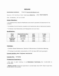 Beautiful Mech Resume New Format Pdf For Engineering Freshers Lovely Mechanical Templates Of
