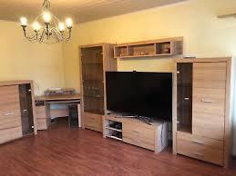 komplettes wohnzimmer set echtes holz arbeitstisch tv