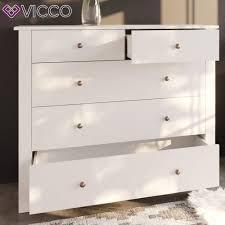 vicco badschrank albatros weiß badezimmer kommode sideboard