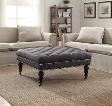 Brown Carpet Living Room Ideas by Living Room Attractive Upholstered Ottoman For Modern Placed