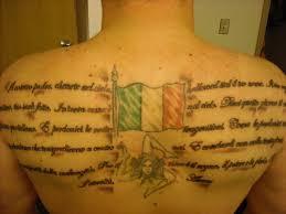 Awesome Italian Wording On Back