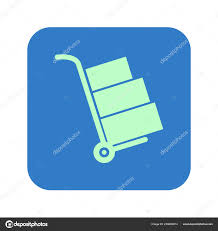 100 Truck Sign Boxes Icon Hand Simbol Stock Vector