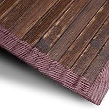 casa pura bambusteppich oak für bad und wohnzimmer natürlich wohnen bambus bambusmatte in vielen größen 150x200 cm