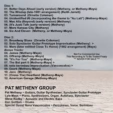 pat metheny the pmg companion vol ii 1981 1982 2cd