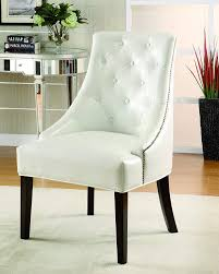 Amazon.com: Coaster Home Furnishings Tufted Back Accent Chair White ... Coaster Fine Fniture 902191 Accent Chair Lowes Canada Seating 902535 Contemporary In Linen Vinyl Black Austins Depot Dark Brown 900234 With Faux Sheepskin Living Room 300173 Aw Redwood Swivel Leopard Pattern Stargate Cinema W Nailhead Trimming 903384 Glam Scroll Armrests Highback Round Wood Feet Chairs 503253 Traditional Cottage Styled 9047 Factory Direct