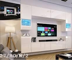 top moderne wohnwand schrankwand weiß schwarz hochglanz concept 27 wohnzimmer