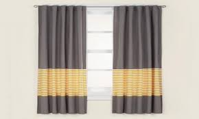 blackout drapery yellow and gray striped curtains grey curtain