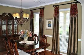 Extraordinary Dining Room Window Curtains Living Treatment Throughout Formal Treatments