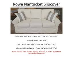 rowe nantucket slipcover sofa you choose the fabric slipcover