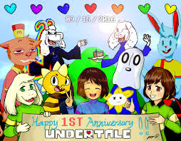 Earthbound Halloween Hack Endings by Undertale Happy 1st Anniversary By Mcmania332 On Deviantart