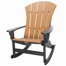Original Pawleys Island SRAR1BLKCD Durawood Sunrise Adirondack Chair,  Black/Cedar Isla Wingback Rocking Chair Taupe Black Legs Safavieh Outdoor Living Vernon White Rar Eames Colby Avalanche Patio Faux Wood Rapson Amazoncom Adults For Heavy People Clips Monet Rattan Rocking Chair Base Pp Ginger