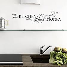 venkaite wandtattoo kitchen englisch zitat abnehmbare wandaufkleber für wohnzimmer schlafzimmer wanddekoration 15x66 cm 6x26 inches