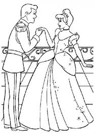 Coloring Pages Of Prince Charming Proposing Cinderella To Dance