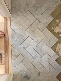 Peel N Stick Tile Floor by Herringbone Marble Floor Thinkin Of Cutting The 57 Peel N Stick