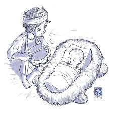 Baby Jesus And Drummer Boy