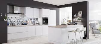 design küche in alpinweiß mattlack küche modern delft