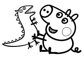 Peppa Pig George Pumpkin Stencil by Play Dinosaur Peppa Pig Coloring Pages 30728 Bestofcoloring Com