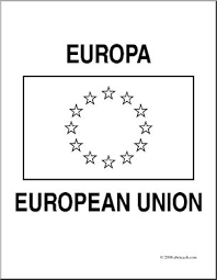 Clip Art Flags European Union Coloring Page I Abcteach