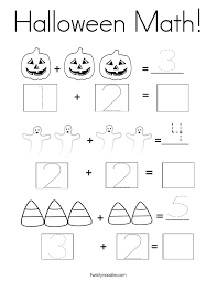 Halloween Math Multiplication Worksheets by Halloween Math Coloring Page Twisty Noodle